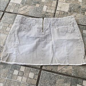 American Eagle 100% Cotton Strip Skirt